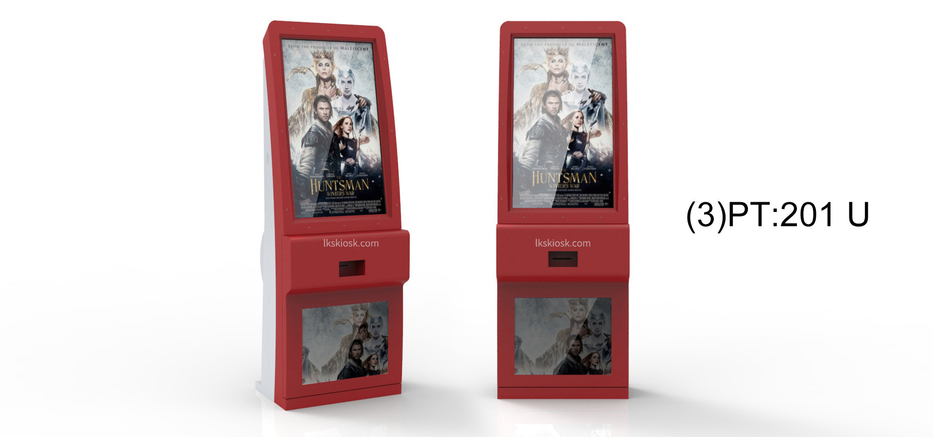 Self Ticket Vending Machine IR / SAW / Capacitive Touch Screen RFID Card Reader